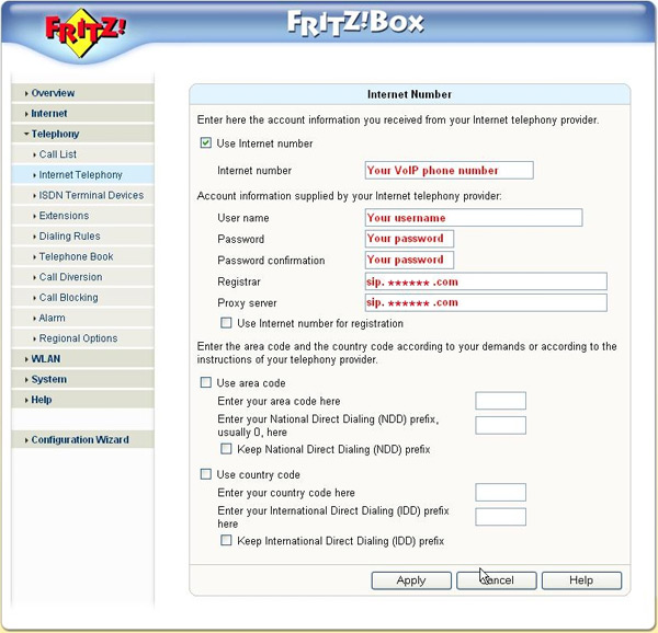 fritz box konfigurieren
